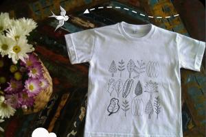 camisetas feitas à mão